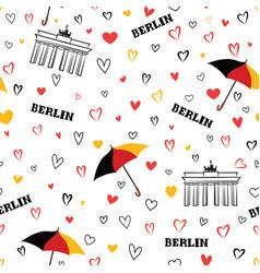 Travel berlin city seamless pattern german vector