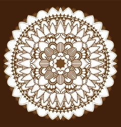 Brown mandala ornament vector