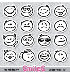 Set of smiles vector