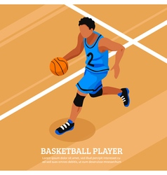 Sport isometric template vector