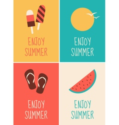 Enjoy summer collection vector