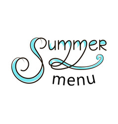 Summer menu banner vector