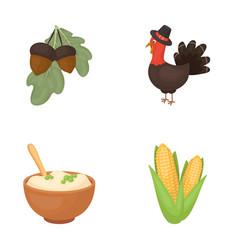 Acorns cornarthene puree festive turkeycanada vector
