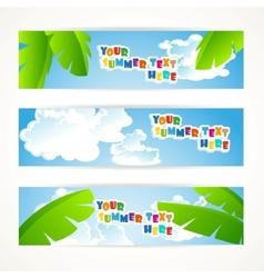 Sunny summer banner vector
