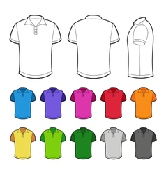 Polo in various colors vector