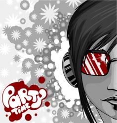 Party graphic with woman vector
