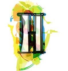 Artistic Font - Letter H vector image