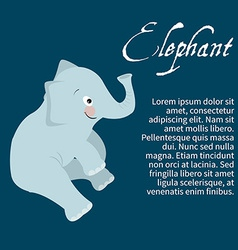 An isolated character elephant vector