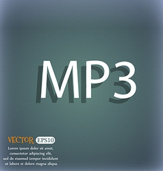 Mp3 music format sign icon musical symbol on the vector
