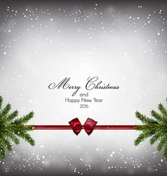 christnas background with firt twigs 3 vector image
