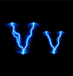 High voltage font vector