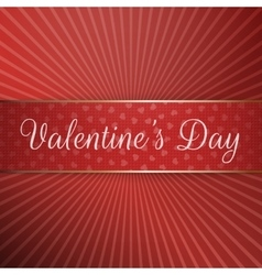 Big textile ribbon with valentines day text vector