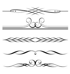decorative elements border vector image