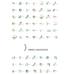Mega collection of chart business logos vector