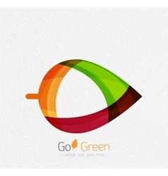 Green concept geometric design eco leaf vector image