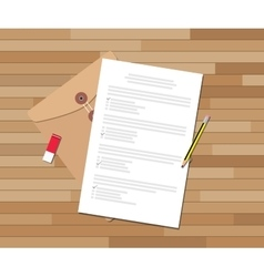 Paper test document with checklist and pencil vector