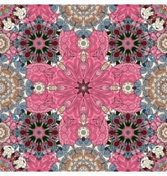 Pink mandala background for greeting card vector