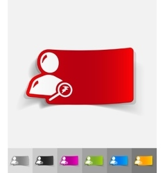 Realistic design element search contacts vector