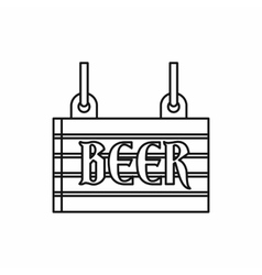 Street signboard of beer icon outline style vector