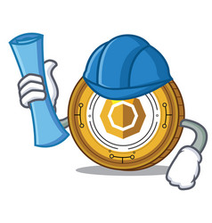 Architect komodo coin character cartoon vector