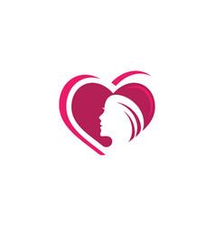 Beauty women logo template vector