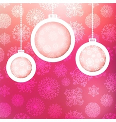 Christmas ball made of snowflakes EPS8 vector image vector image