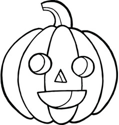 coloring page and doodle sketch with pumpkin for vector image