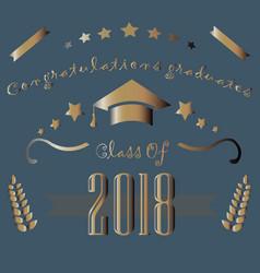 Congratulations graduates of year 2018 vector