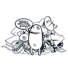 graffiti doodle art vector image vector image