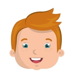 Kids smiling colorful cartoon design vector image