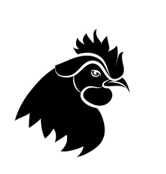 Line art - cock vector