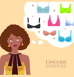 lingerie and shopping vector image vector image