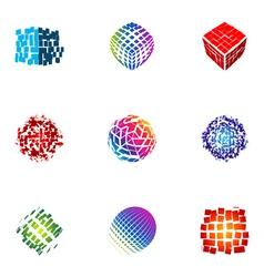 Logo design elements set 28 vector
