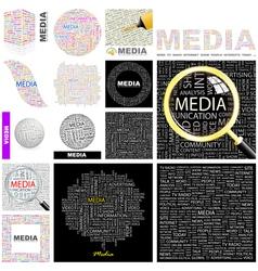 MEDIA vector image vector image