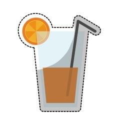 Orange juice icon vector