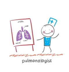 pulmonologist says lung vector image vector image