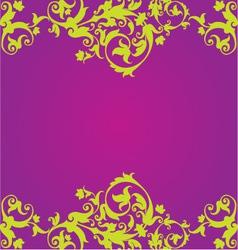 Purple Floaral Design vector image