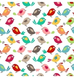 Seamless pretty pattern with stylized birds vector image