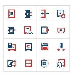 Set color icons of safe vector image vector image
