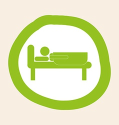sleeping design vector image