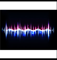 Technological abstract sound pulse background vector