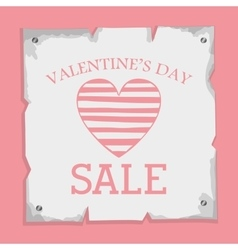 valentines day sale design vector image vector image