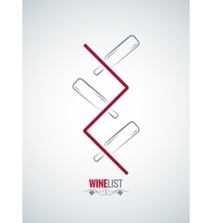 wine bottle menu list design background vector image vector image