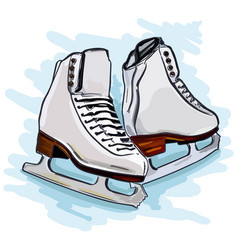 Womens figure skates vector