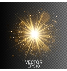 Transparent glow light effect star burst vector