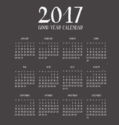 Calendar for new year 2017 vector
