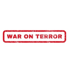 War on terror rubber stamp vector