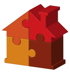 House from puzzles vector