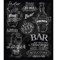 Chalk beer vector