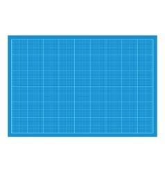 Sheet of blueprint paper vector image